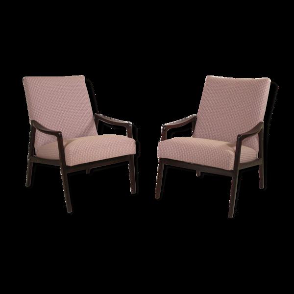 Paire de fauteuils restaurés, 1950's