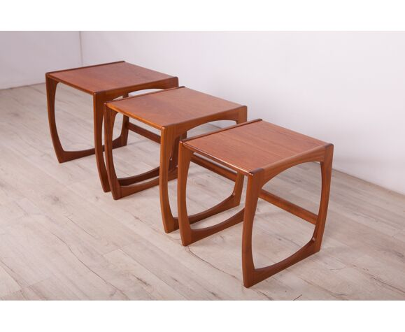 Nesting Tables by Victor Wilkins for G-Plan, 1970s, Set of 3