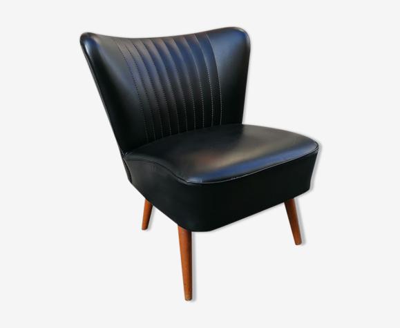 Black skai cocktail chair, 1960
