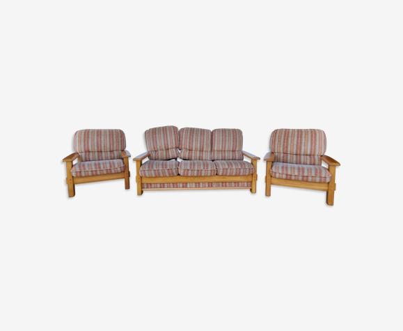 Ensemble canapé et fauteuils vintage années 70