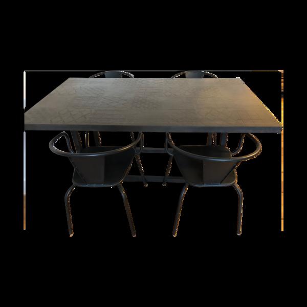 Selency Table à manger et 4 chaises