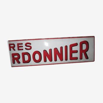 Plaque émaillée Motte Cordonnier