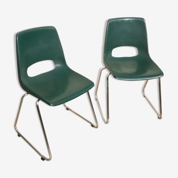 Lot of 2 chairs designer Jac Vogels Marko Holland