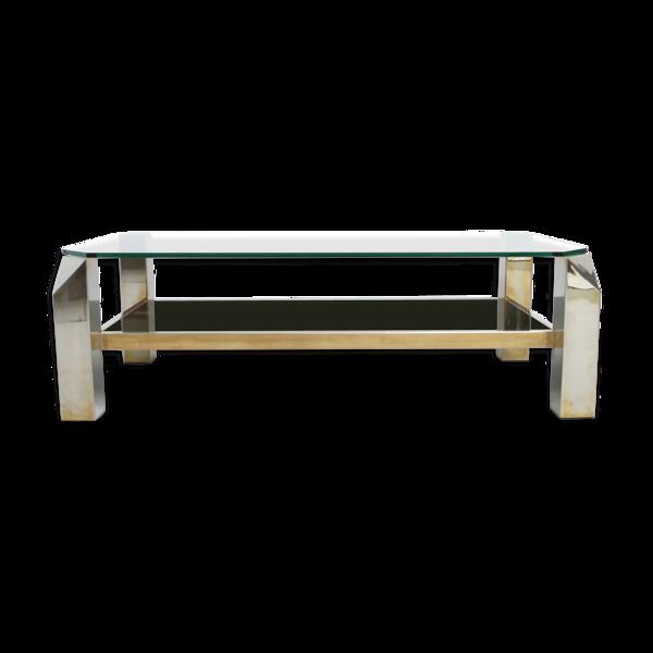 Table basse par Belgo Chrome, années 1970