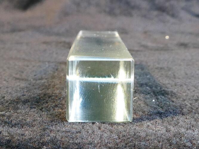 Set de 12 porte couteaux rectangulaire en verre vintage années 50