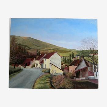 Village du Morvan de Marcel Maillard (XXème)