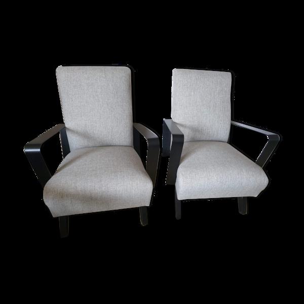 Paire de fauteuils design, années 50