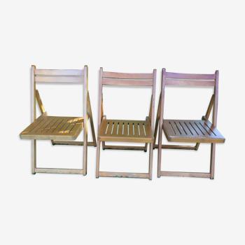 Série de 3 chaises pliantes