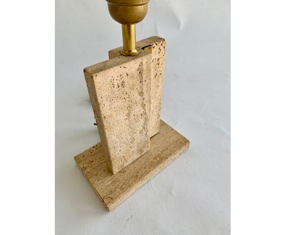 Pied de lampe de table en travertin