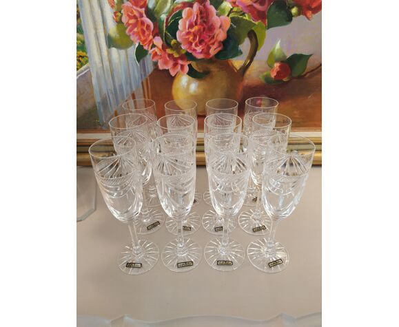 Set de 12 flûtes en cristal Etzel