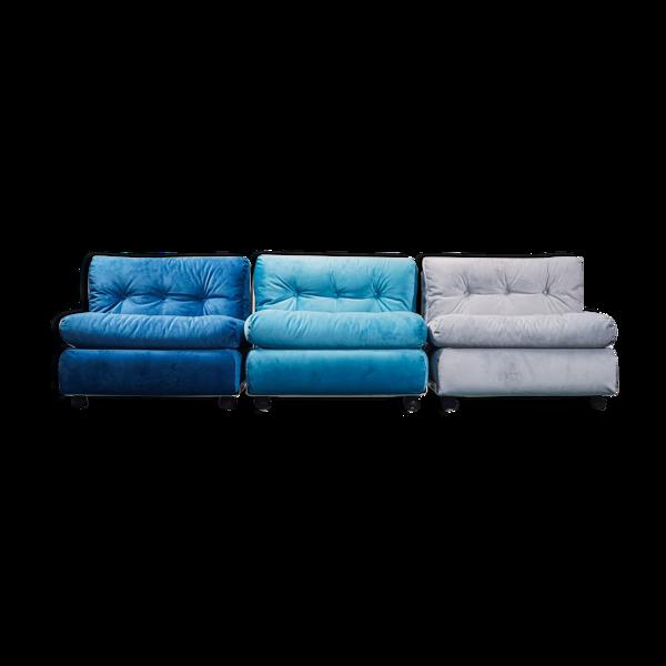 Set 3 armchairs amanta mario bellini b&b 70s vintage modernariate