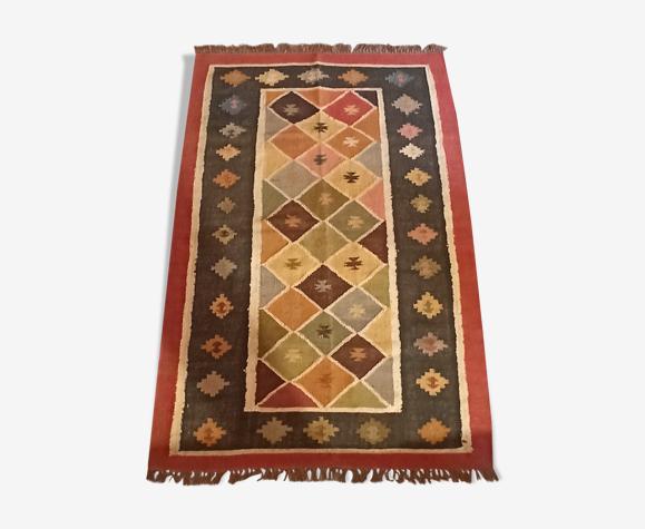 Tapis Kilim en coton et toile de jute - 120cm x 190cm