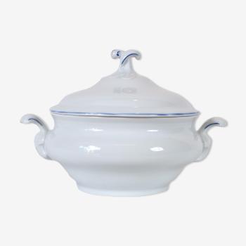 Bavaria vintage soup bowl, curled handles