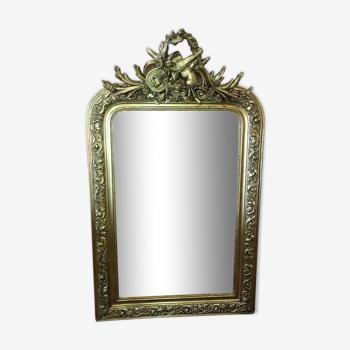 Miroir doré style Louis Philippe 121x74cm