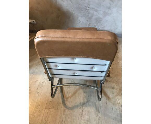 Chaise longue en simili cuir