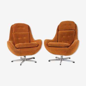 Paire de fauteuils, Interier Praha, Tchécoslovaquie