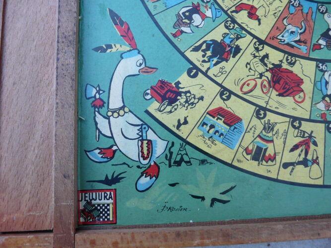 Ancien jeu de dames et jeu de l'oie jeujura