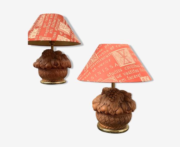 """Lampes de table """"vases aux fruits"""""""