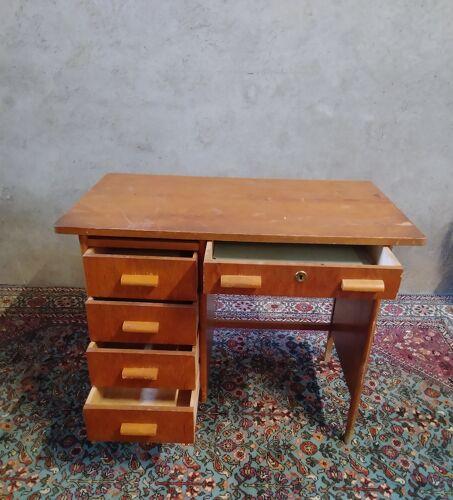 Bureau vintage en chêne