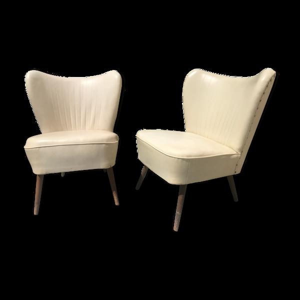 Paire de fauteuils cocktails 1950