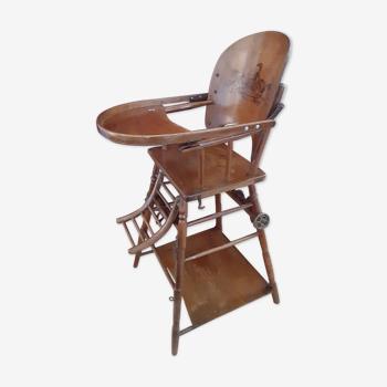 Wooden high chair c1920