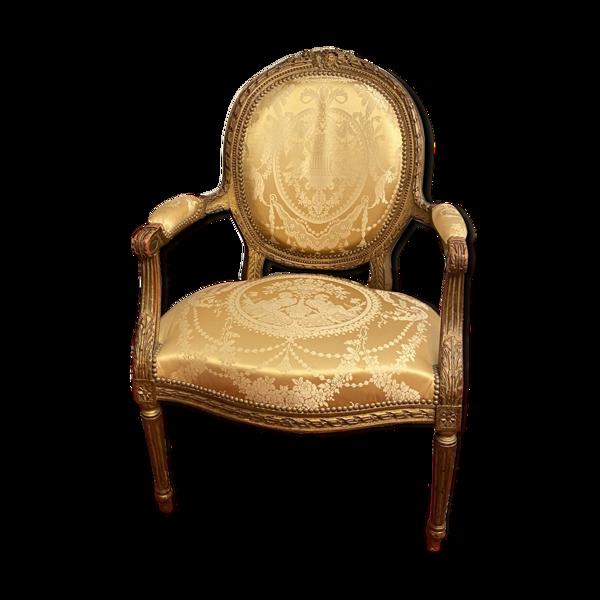 Fauteuil cabriolet de style Louis XVI époque Napoleon III