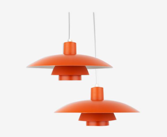 Pair of pendant lamps PH 4/3 by Poul Henningsen, Louis Poulsen, 1966