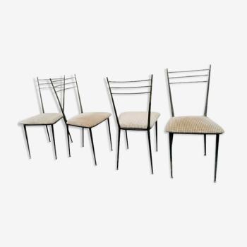Ensemble de 4 chaises Colette Gueden Primavera 1950