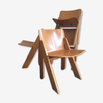Ensemble de 4 chaises à manger par Gigi Sabadin pour Stilwood 1970