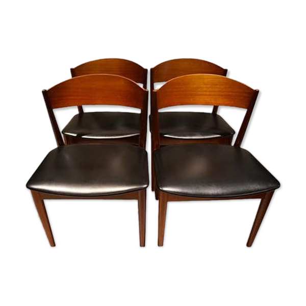 Selency Set de 4 chaises scandinaves de Jydsk Mobelfabrik 1960