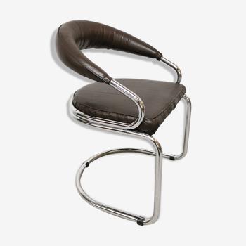 Chaise vintage tubulaire Bauhaus Victoria design 1970
