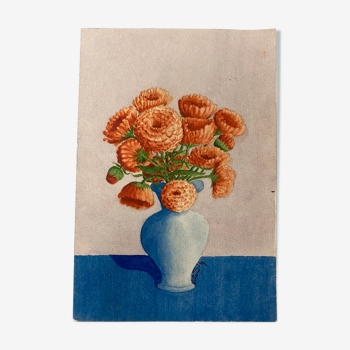Aquarelle bouquet de fleurs vintage