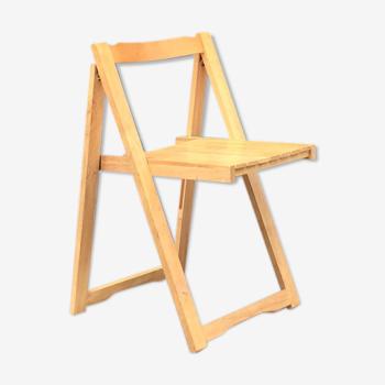 Chaise pliante en hêtre années 70