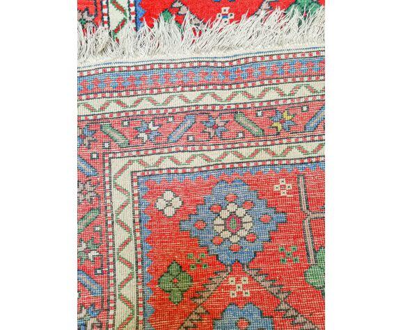 Tapis d'orient fait main caucasien vintage Kuba 206 x 100