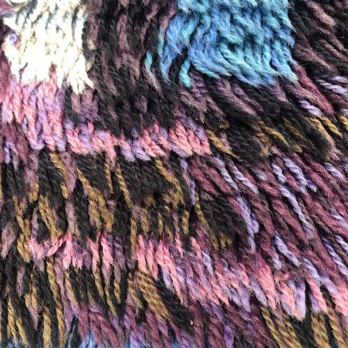 Tapis vintage laine multicolore 96x110cm