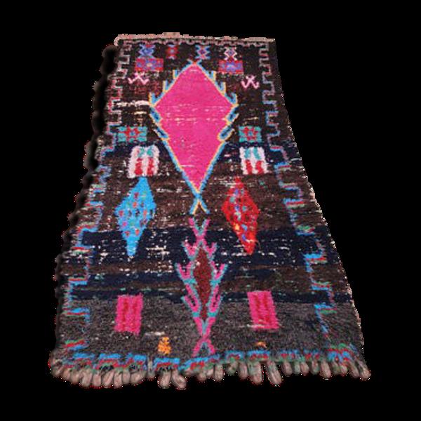 Tapis antique azilal vintage marocain berbere 290 x 125 cm