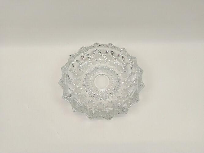 Cendrier en verre épais transparent diamètre 19cm