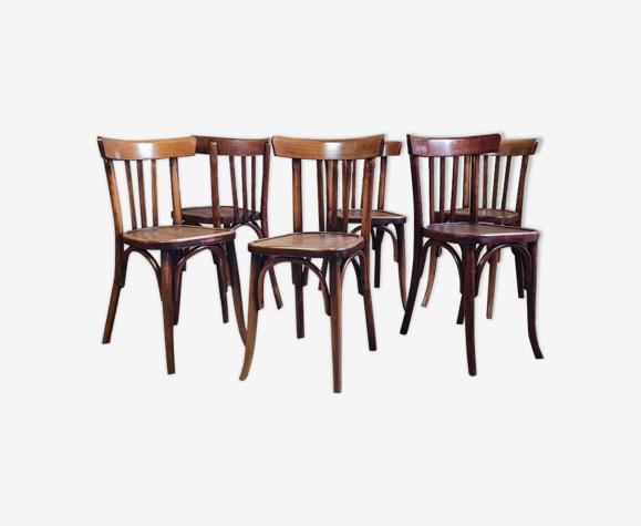Suite 6 chaises bistrot années 30