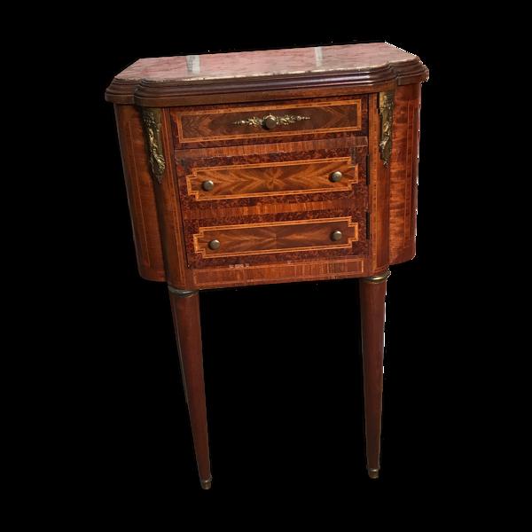 Table de chevet dessus marbre