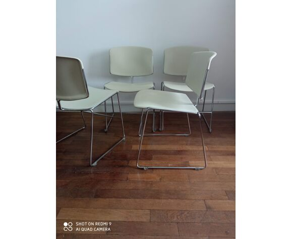4. chaises Max Stacker pour Strafor 1970