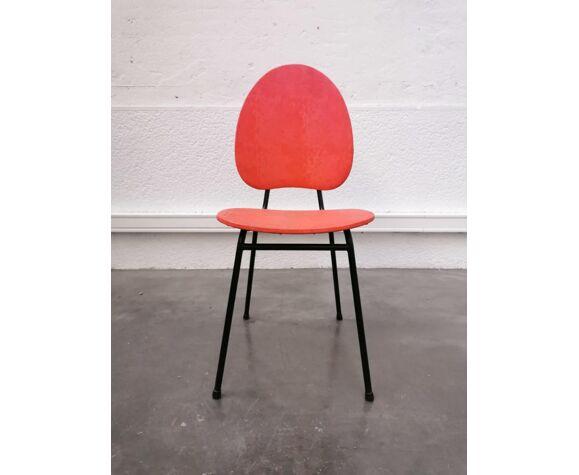 Série de 4 chaises vintage de couleur