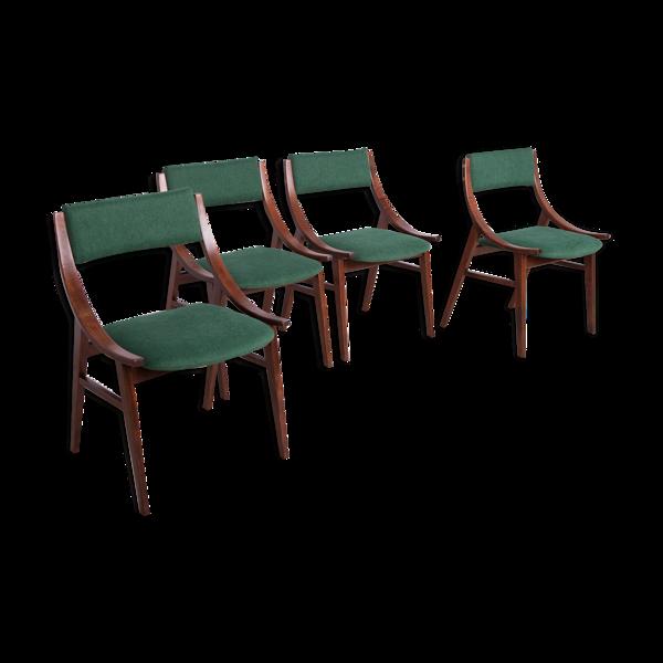 Selency Ensemble de 4 chaises polonaises de la fabrique de meubles Zamojska, années 1970