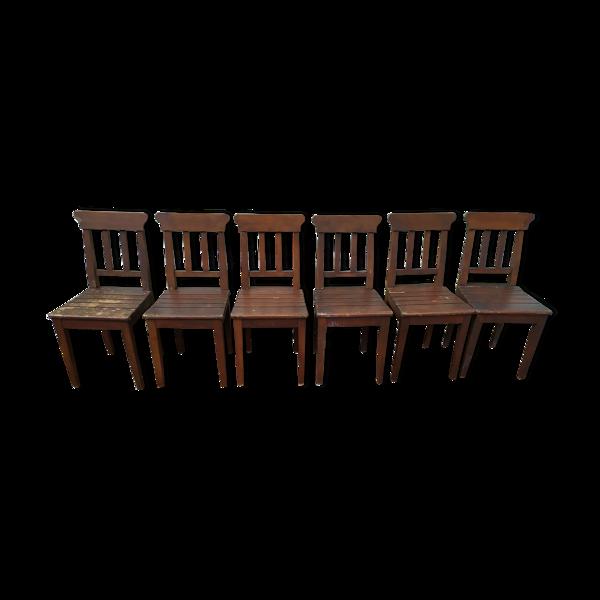 Lot de 6 chaise en bois bistrot