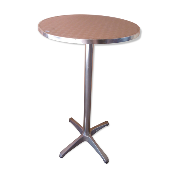 Table haute mange debout en inox