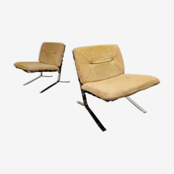 Paire de fauteuils Joker par Olivier Mourgue, années 1970