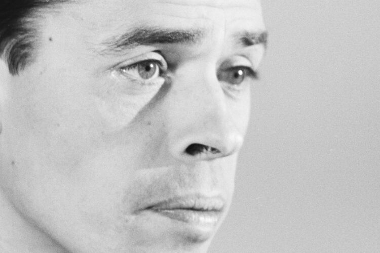 Photographie Jacques Brel tirage sur papier baryté 300g d'après négatif original