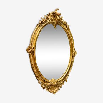 Miroir doré XIXe