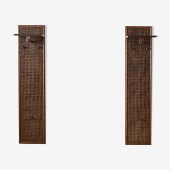 Pair of wall coat racks