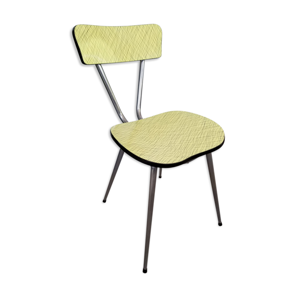 Chaise formica jaune imprimé