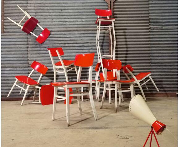 Lot de 11 chaises Ton